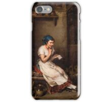 Hermann Kern (Liptoujvar  Maria Enzersdorf near Vienna) The gratifying letter - room interior iPhone Case/Skin