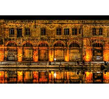 Old Building in Birgu at Night Photographic Print