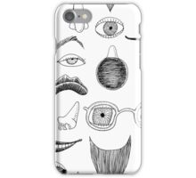Fractured Facial Features iPhone Case/Skin