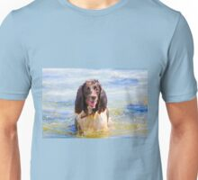 Springer Spaniel in the Water Unisex T-Shirt