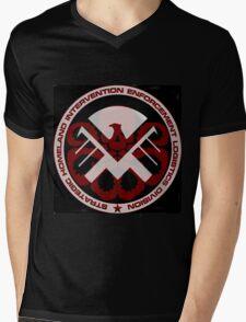 Sheild or Hydra? Mens V-Neck T-Shirt