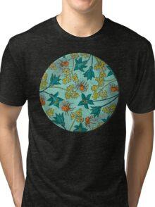 Alpine-Columbine bloom Pattern Tri-blend T-Shirt