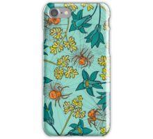 Alpine-Columbine bloom Pattern iPhone Case/Skin