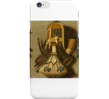 Johannes Leemans, Trompe l'oeil with a Bird Cage and Hunting Equipment, iPhone Case/Skin