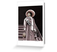 Trixie the Suffragette  Greeting Card