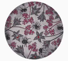 Alpine-Columbine bloom Pattern Baby Tee