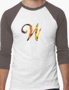Floral W Men's Baseball ¾ T-Shirt