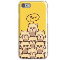 """""""Meow."""" iPhone Case/Skin"""