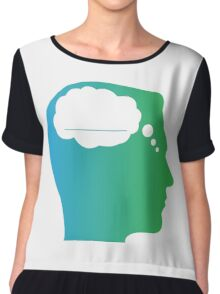 What About Blank Logo w/o Words Chiffon Top