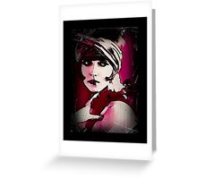 Over Shoulder Flapper Greeting Card