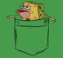 Caveman Spongebob (Primitive Spongegar) Pocket Shirt - Spongebob Baby Tee