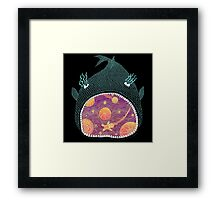 Cosmic Fish with Gingerbread Astronaut Framed Print