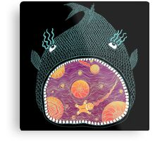 Cosmic Fish with Gingerbread Astronaut Metal Print