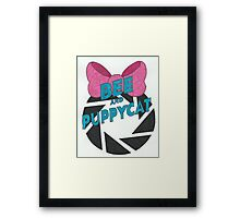 Bee and PortalCat Logo Framed Print
