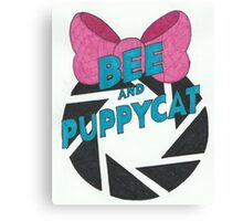 Bee and PortalCat Logo Canvas Print
