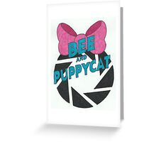 Bee and PortalCat Logo Greeting Card