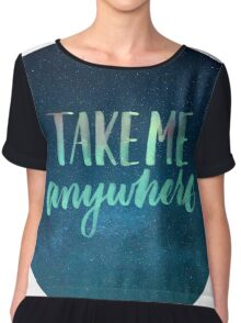 Take me anywhere cut Chiffon Top