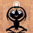 Diamond Eye Sun Dance Rorscharch Creature by SusanSanford
