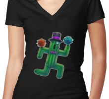 Rollin' D20s Women's Fitted V-Neck T-Shirt