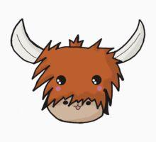 Kawaii Highland Cute Coo (Cow) Glasgow  One Piece - Long Sleeve