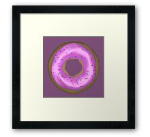 Delicious Pink Doughnut with Sprinkles Framed Print