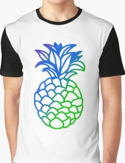 Multi colored Pineapple Graphic T-Shirt