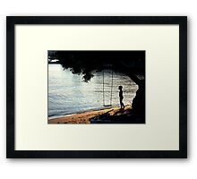 The Swing and the boy Framed Print