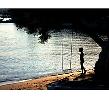 The Swing and the boy Photographic Print
