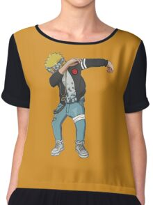 <DAB> Blond Haired Dab Chiffon Top