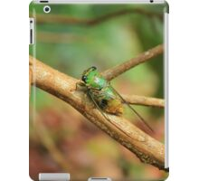 Green Insect on a Tree Branch iPad Case/Skin
