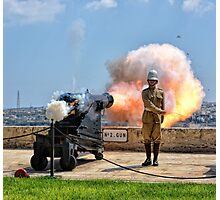 No.2 Gun Salute - Saluting Battery in Valletta Photographic Print