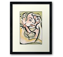Brush4 Framed Print