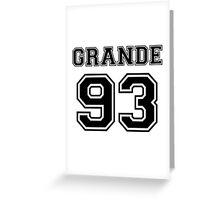 Ariana Grande - 93 Jersey (Black) Greeting Card