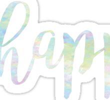 Be Happy Rainbow Watercolor Sticker