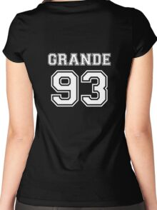 Ariana Grande - 93 Jersey (White) Women's Fitted Scoop T-Shirt