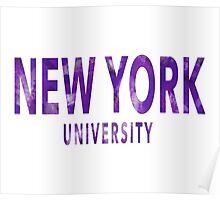 New York University Poster