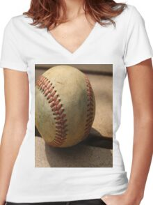 An American Game  Women's Fitted V-Neck T-Shirt