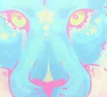 Bright Pastel Lion Sticker