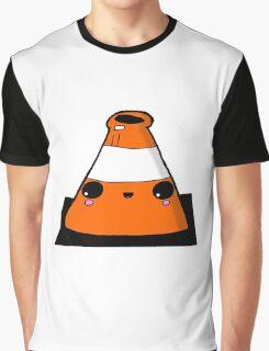 Kawaii Cute Traffic Cone Glasgow Graphic T-Shirt