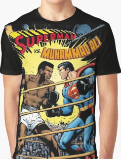 Muhammad Ali v Superman Graphic T-Shirt