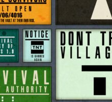 DWO Minecraft - Survival Poster 4 Sticker