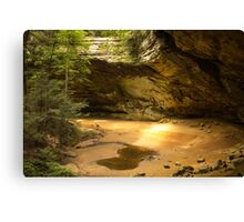 Sunbeam inside Ash Cave, Hocking Hills, OH Canvas Print