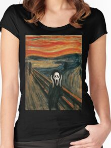 (The) Scream Parody Women's Fitted Scoop T-Shirt
