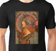 Savonnerie de Bagnolet by Alphonse Mucha (Reproduction) Unisex T-Shirt