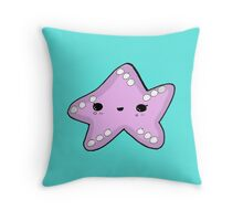 Kawaii Cute Starfish Beachlife Throw Pillow