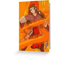 Raiden Legacy - Flaming Flower (Action) Greeting Card