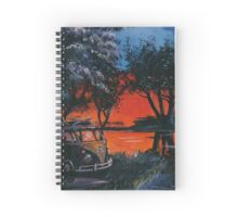 Red Sky Camper Van Painting Spiral Notebook