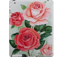 Red and peach roses iPad Case/Skin
