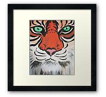 Majestic Tiger Closeup Framed Print