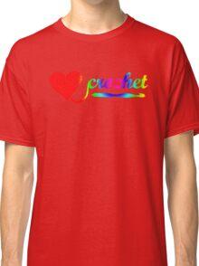 Heart Crochet Rainbow Classic T-Shirt